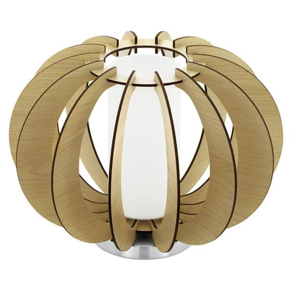Лампа настольная Eglo Stellato 1 1х60Вт белый/дерево Е27