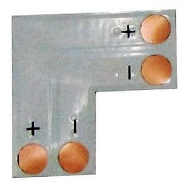 Плата соединительная Ecola L для зажим разъема 2-х конт SMD5050