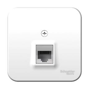 Розетка компьютерная ОП BLANCA RJ45 кат.5e изол. пласт. белый Schneider Electric BLNIA045001