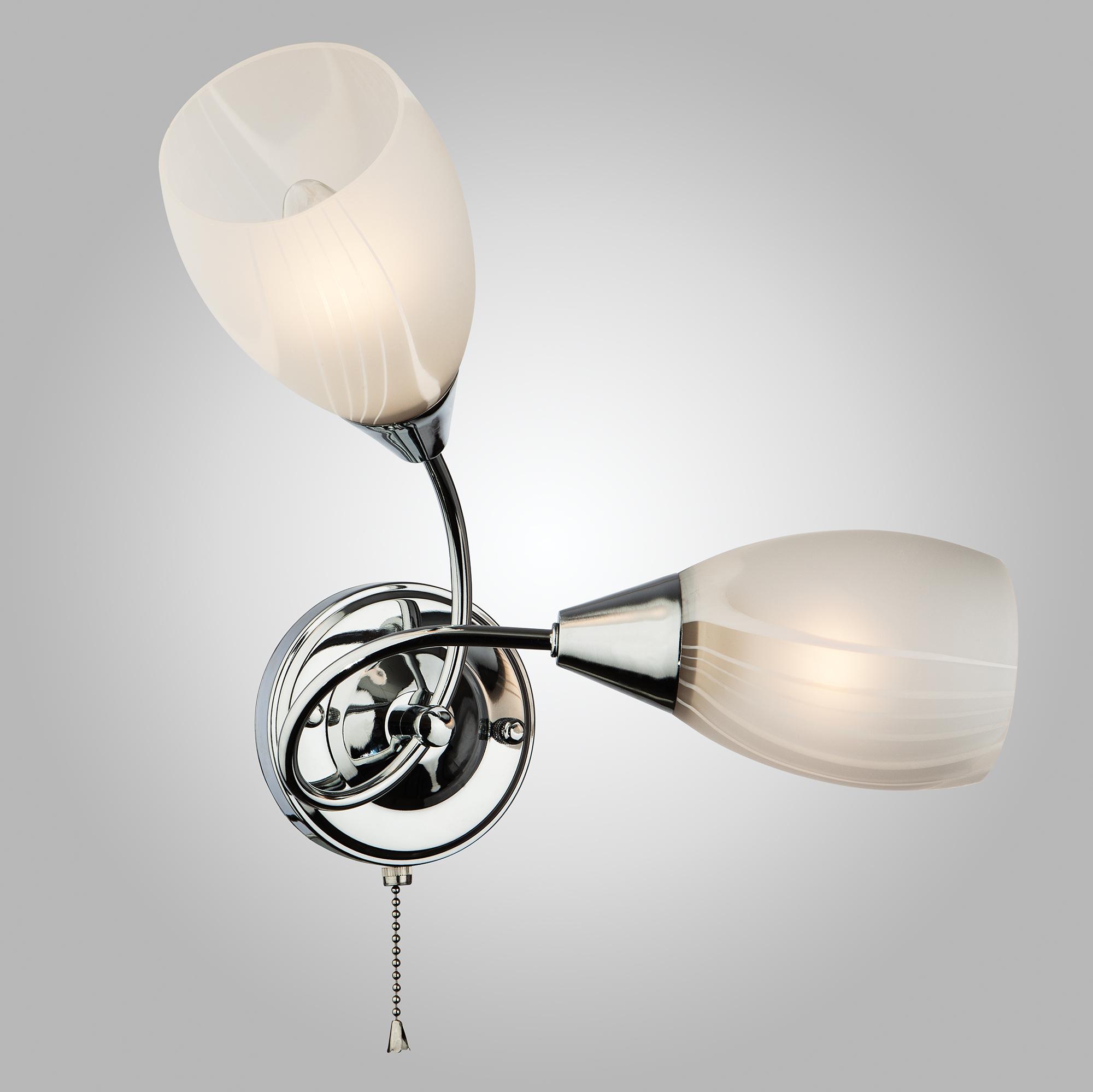 Светильник настеный Eurosvet 2275/2 хром 2х60Вт Е27