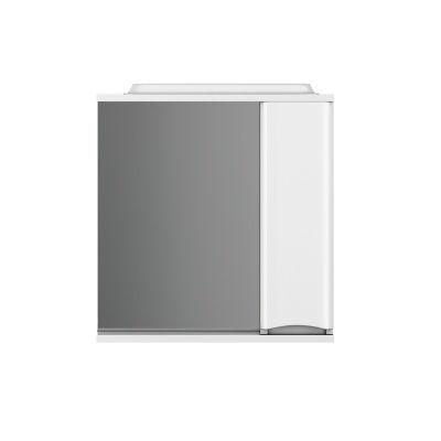 Зеркало-шкаф Like 80см с подсветкой правый белый глянец