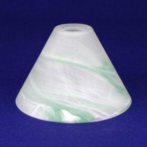 Плафон Конус ННС 33-001-ф158/в 30 алебастровый зеленый матовый