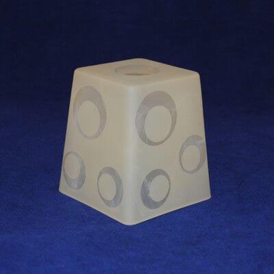 Плафон Пирамида 31-002-в30 алебастр матовый шары