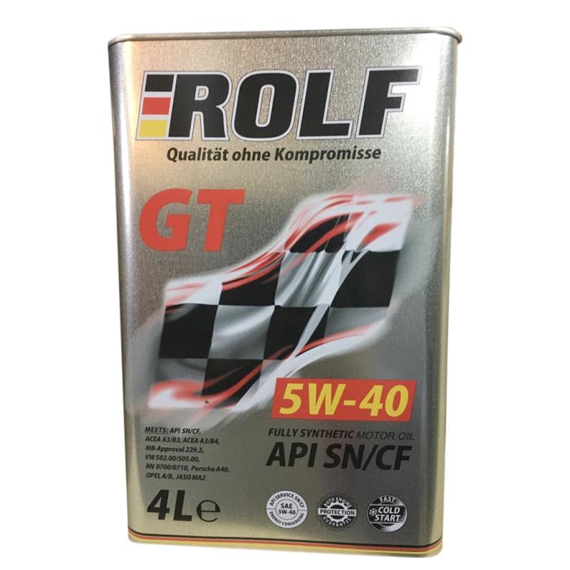 Масло ROLF GT 5W-40 SN/CF 4л