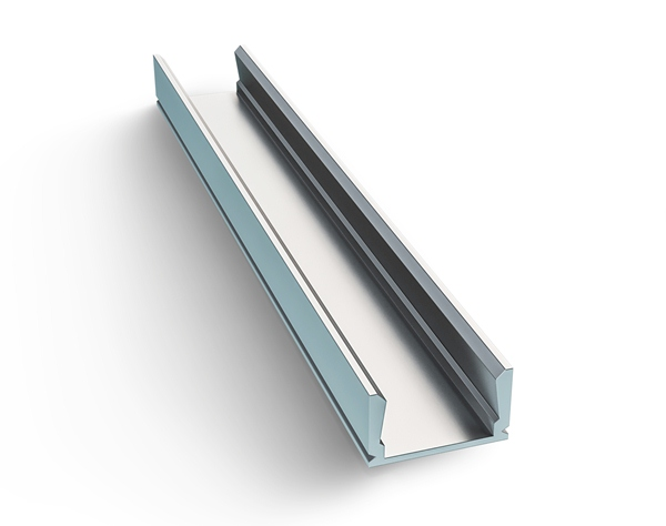 Профиль прямой накладной для LEDленты анодированный Apeyron 3011 08-01-01 2м алюминий