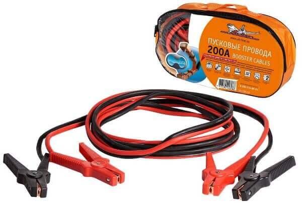 Провода пусковые 200А силиконовые в сумке Airline SA-200-02