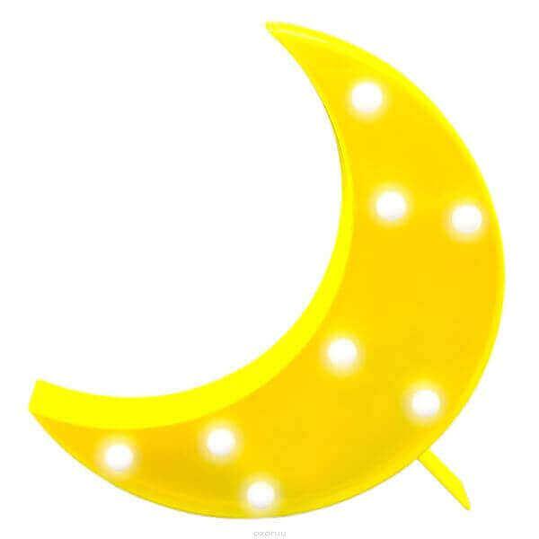 Светильник APEYRON Полумесяц 12-63 3Вт LED АБС-пластик желтый 255х190х40мм