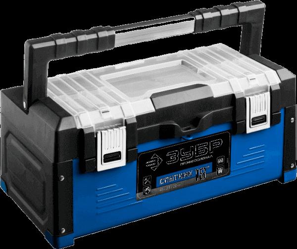 Ящик для инструмента металлический 460x230x200 ЗУБР 38153-18