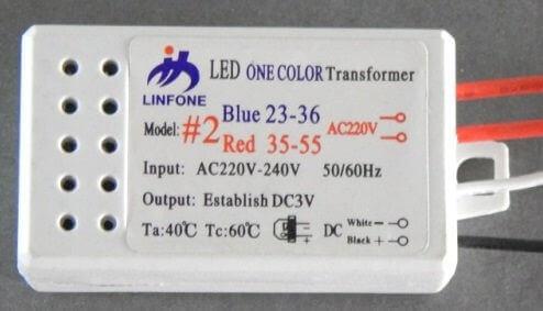 Драйвер LED для одноцветных и многоцветных диодов 23-36 5,5х3х2см белый