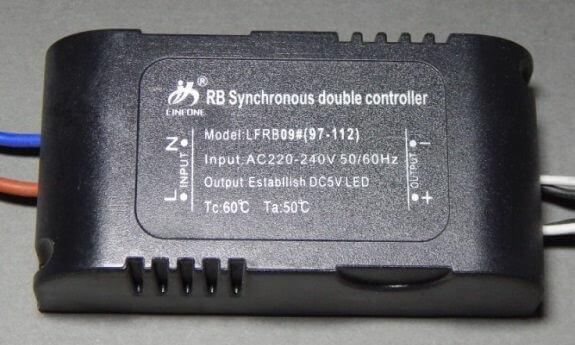 Драйвер LED для трехцветных диодов 97-112 7х4х2см черный