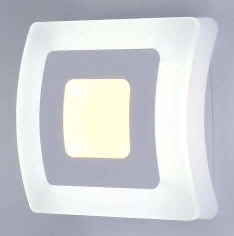 Бра Linvel Атеа MS1025 12Вт 3000-6000K белый AC180-220В 200х200х80