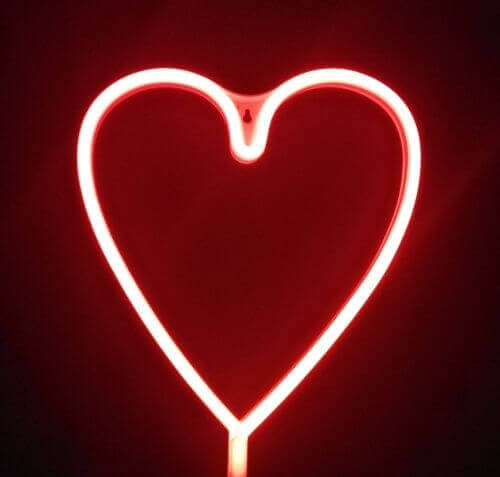 Ночник СТАРТ LED neon Пылающее Сердце