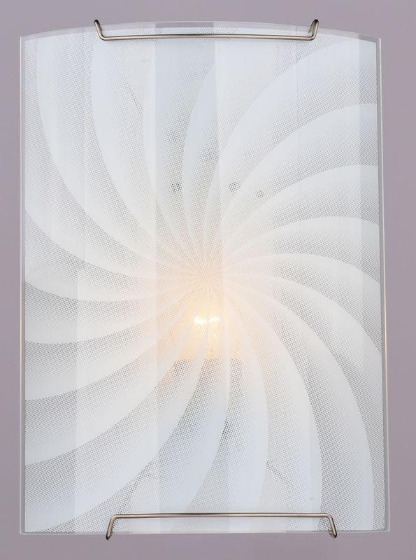 Бра РОССвет РС-024 Ассоль гл. 210х290 1х60Вт Е27 хром, белый