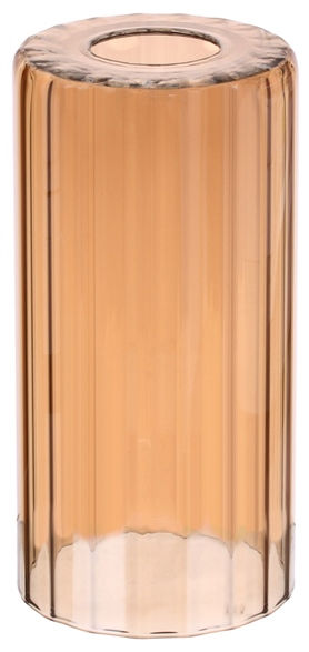 Плафон цилиндр рифленый амбер 33 Идеи 20х10см