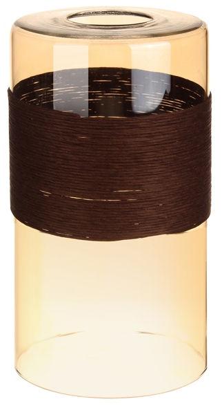 Плафон цилиндр с темным декором амбер 33 Идеи 20х10см