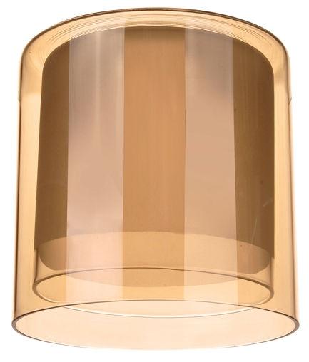 Плафон цилиндр двойной полупрозрачный амбер 33 Идеи 13х13см