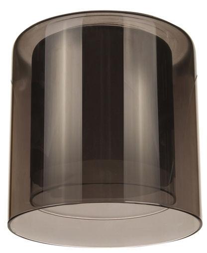 Плафон цилиндр двойной полупрозрачный 33 Идеи 13х13см серый