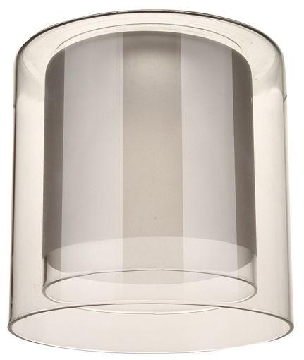Плафон цилиндр двойной полупрозрачный 33 Идеи 13х13см