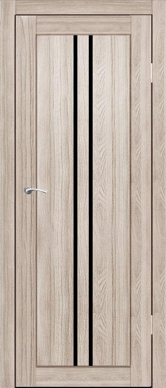 Дверь межкомнатная Токио со стеклом лакобель черный 600 грей