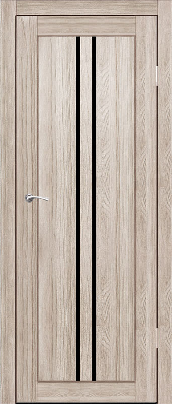 Дверь межкомнатная Токио со стеклом лакобель черный 900 грей