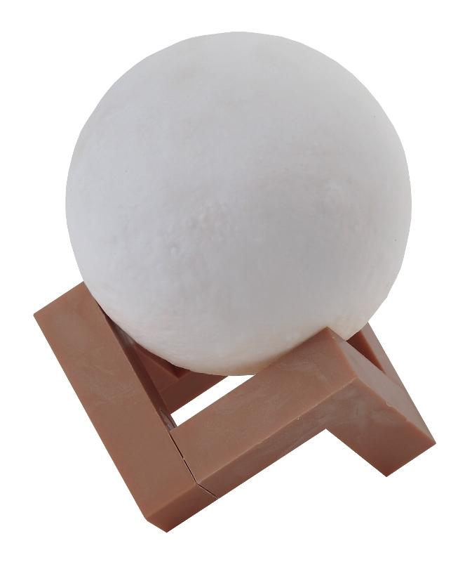 Светильник ночник настольный Луна d8см ЭРА NLED-490-1W-W сенсор, диммер 3000-6500К белый