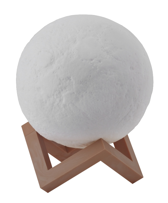 Светильник ночник настольный Луна d15см ЭРА NLED-491-1W-W сенсор, диммер 3000-6500К белый