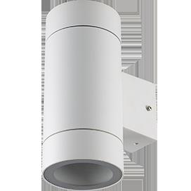 Светильник Ecola 8013A Цилиндр FW53C2ECH 205x140x90 IP65 2хGX53 белый матовый