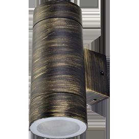 Светильник Ecola 8013A Цилиндр FN53C2ECH 205х140х90 IP65 2хGX53 бронза черная