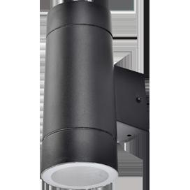 Светильник Ecola 8013A Цилиндр FB53C2ECH 205х140х90 IP65 2хGX53 черный
