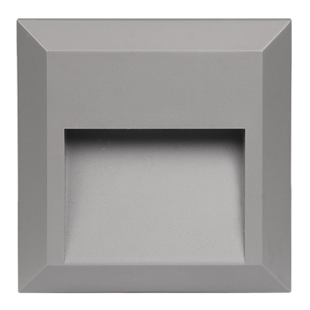 Подсветка стен накладная квадрат Jazzway PST/W S124124.5005587 2Вт 70Лм 4000К IP65 124x124x27 серый