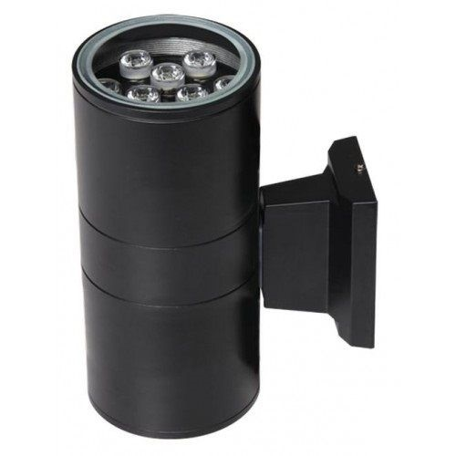 Светильник для фасадов Jazzway 2857941 2x9Вт 1600Лм 6500К IP65 245x170x110 серый