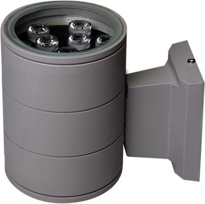 Светильник для фасадов Jazzway 2857989 9Вт 600Лм 6500К IP65 200x173x108 серый