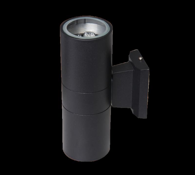 Светильник для фасадов Jazzway PWL-26090/30 BL.1018618A 2x5Вт 6500К IP65 черный