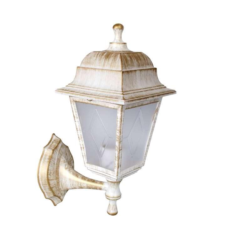 Светильник уличный бра Camelion Леда 4-гранный 13833 PP4201/02 C66 НБУ 04-60-001 У1 белый бронза