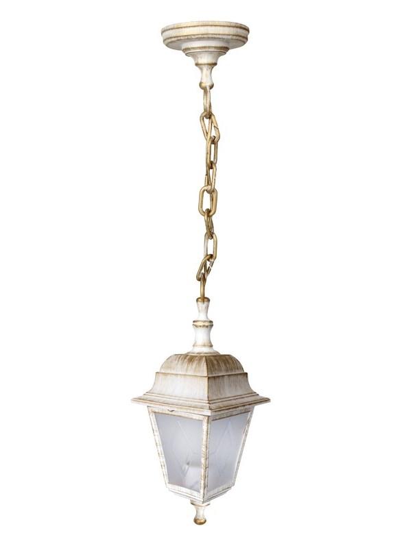 Светильник уличный подвес Camelion Адель 4-гранный 13849 PP4205 C66 НСУ 04-60-001 У1 белый бронза