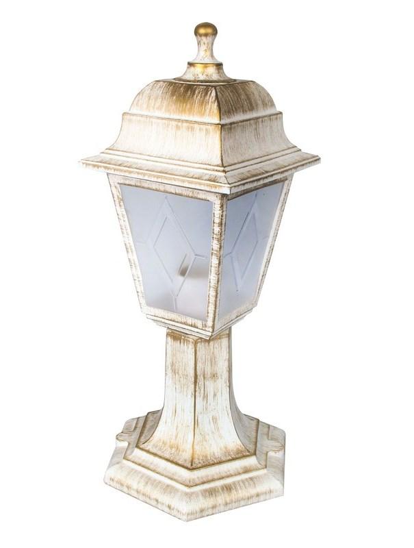 Светильник уличный столбик Camelion Оскар 4-гранный 13841 PP4204 C66 НТУ 04-60-001 У1 белый бронза