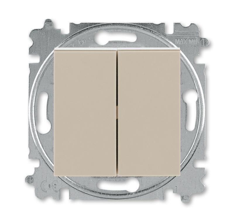 Выключатель 2-кл. Levit кофе макиато/белый ABB 2CHH590545A6018