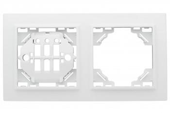 Рамка 2-мест. горизонтальная белый Минск EKF Basic