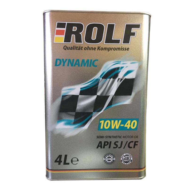 Масло Rolf Dynamic 10/40 SJ/CF полусинтетическое 4л