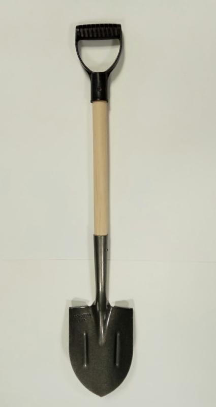 Лопата автомобильная 150х205х375 сталь рельсовая L750мм с черенком и V-ручкой