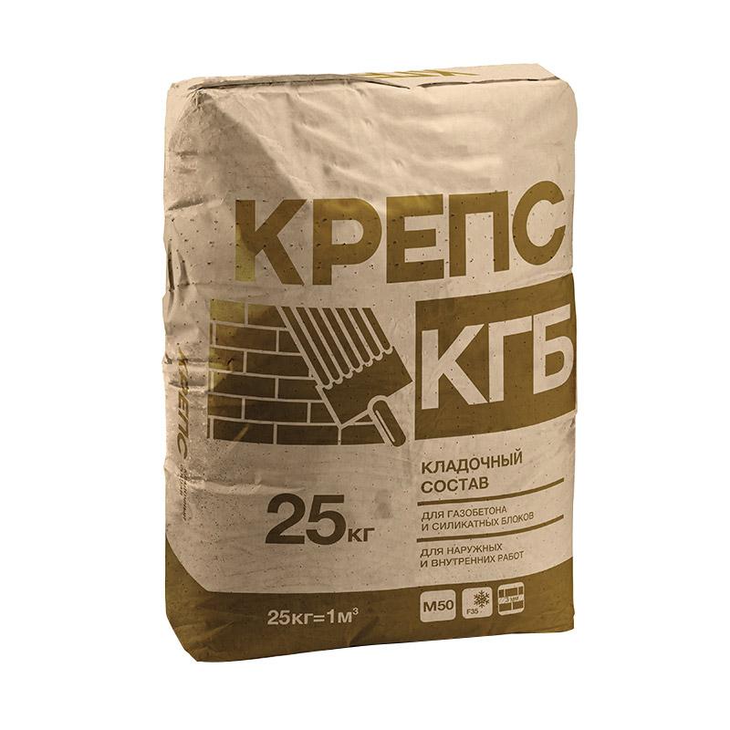 Смесь кладочная Крепс КГБ для газобетона 25кг
