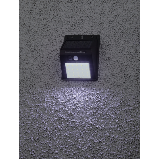 Светильник фасадный на солнечной батарее ЭРА ERAFS064-04 20LED 60lm датчик движени