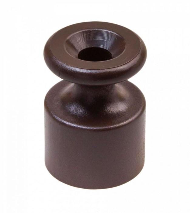 Изолятор для наружного монтажа, пластик коричневый 10шт BIRONI