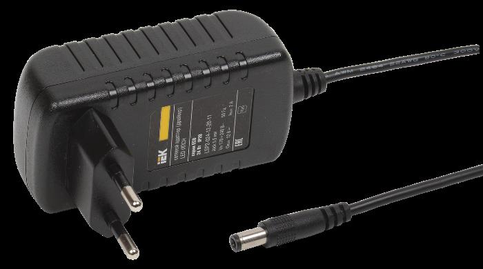 Драйвер LED ИЭК ИПСН ECO 3528 24Вт 12В адаптер-JacK 5,5мм IP20 LSP2-024-12-20-11