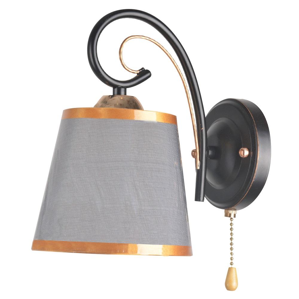 Бра Hiper Nataly H055-1 1хЕ27х60Вт черный,золотой