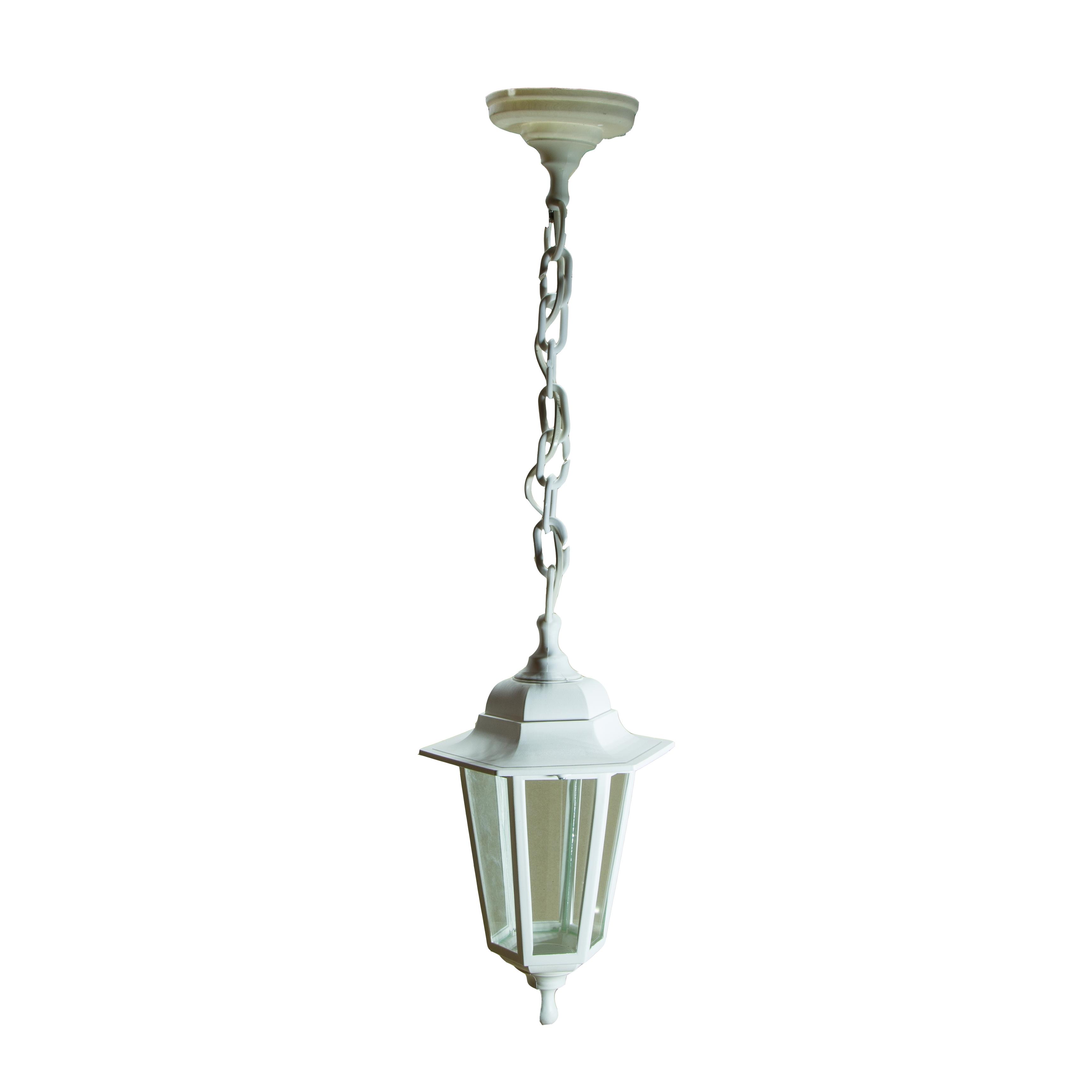 Светильник садово-парковый ЭРА НБУ 06-60-001 Адель1 подвесной шестигранный белый