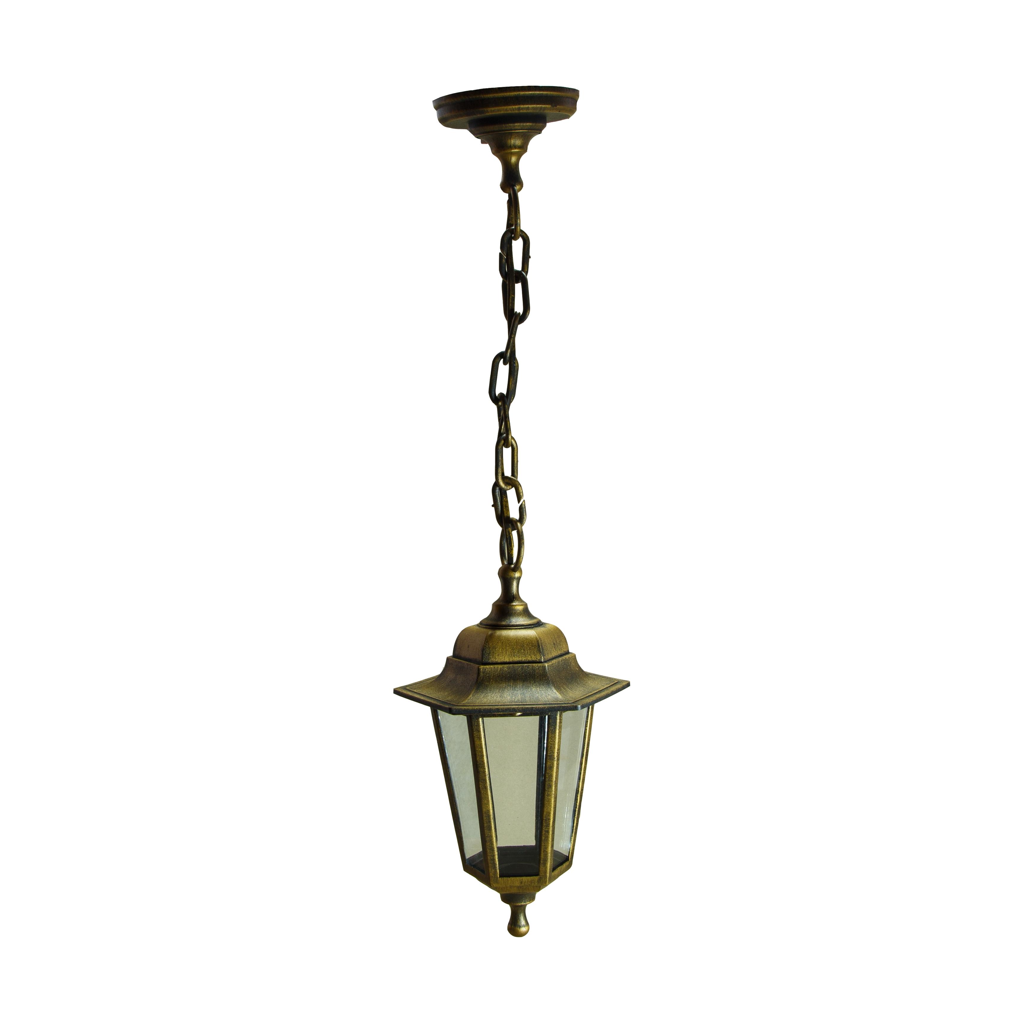Светильник садово-парковый ЭРА НБУ 06-60-001 Адель1 подвесной шестигранный под бронзу