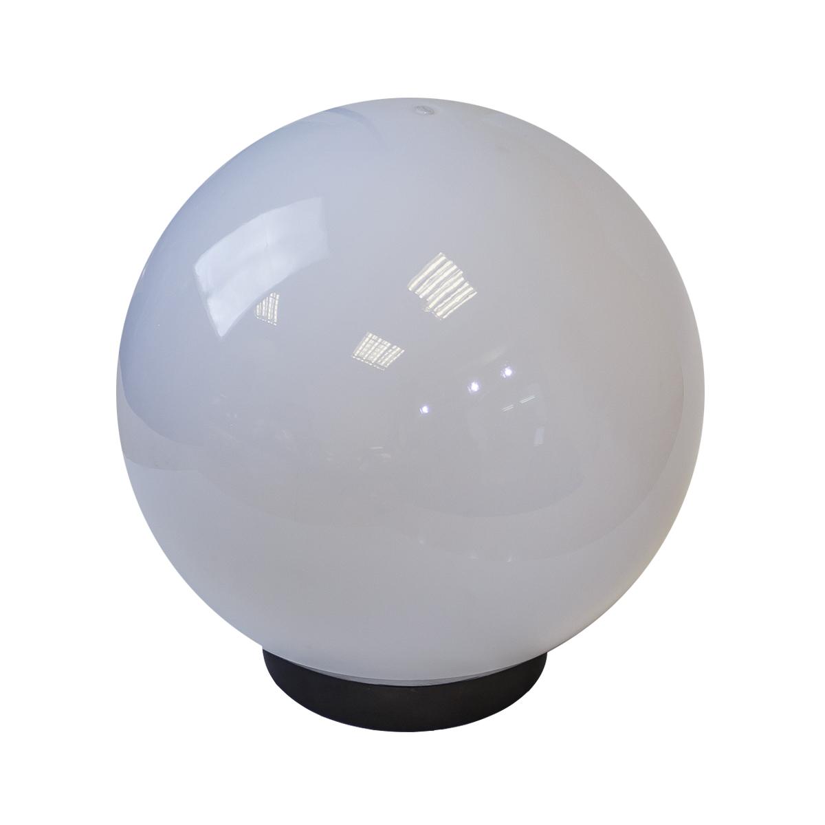 Светильник садово-парковый ЭРА НТУ 02-100-301 шар белый призма d300