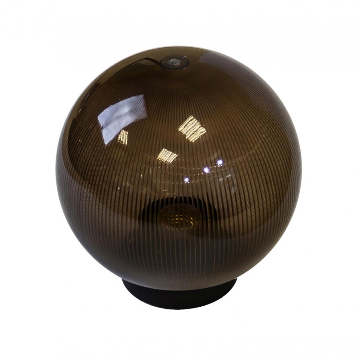 Светильник садово-парковый ЭРА НТУ 02-100-305 шар дымчатый призма d300
