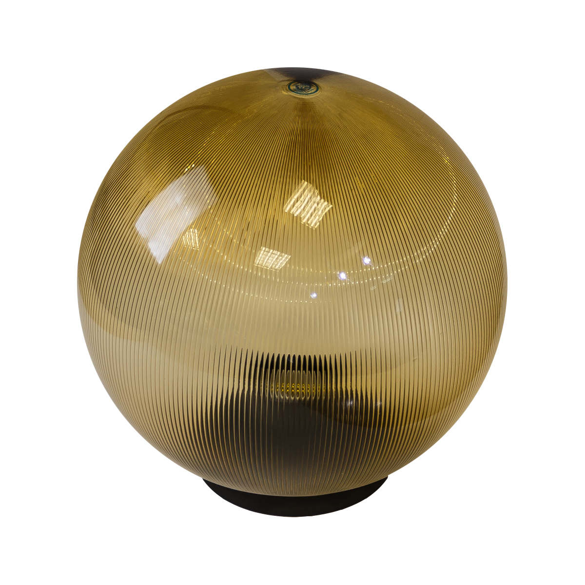 Светильник садово-парковый ЭРА НТУ 02-60-203 шар золотистый призма d200
